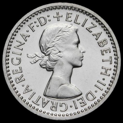 1964 Elizabeth II Silver Maundy Threepence Obverse
