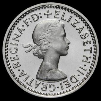 1973 Elizabeth II Silver Maundy Threepence Obverse