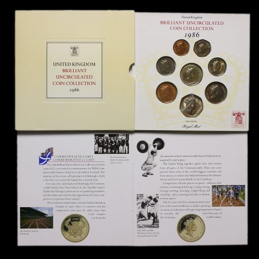 1986 United Kingdom Brilliant Uncirculated Coin Collection
