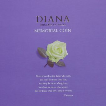 1999 Diana Princess of Wales Memorial Coin Insert Card