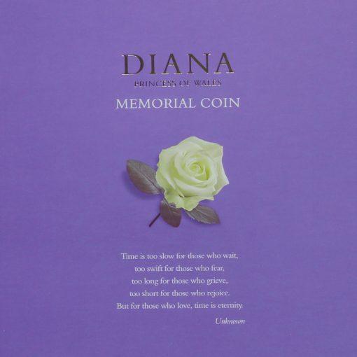 1999 Diana Princess of Wales Memorial Coin Insert Card
