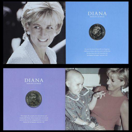 1999 Diana Princess of Wales Memorial Coin Inside Pack