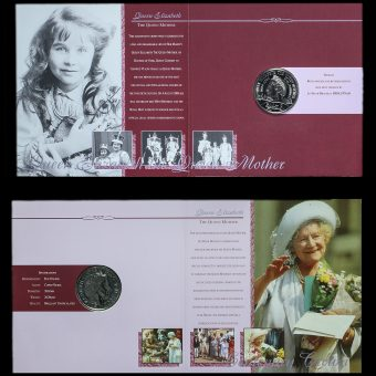 2000 Queen Elizabeth The Queen Mother Centenary Crown Inside Pack