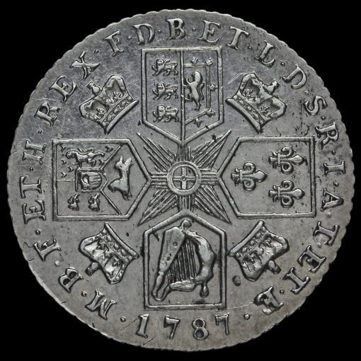 1787 George III Early Milled Silver Shilling Reverse