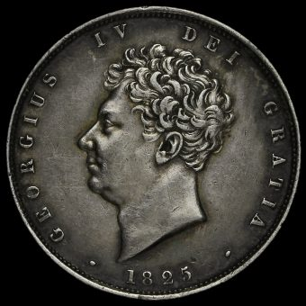 1825 George IV Milled Silver Half Crown Obverse