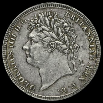 1828 George IV Milled Silver Maundy Threepence Obverse