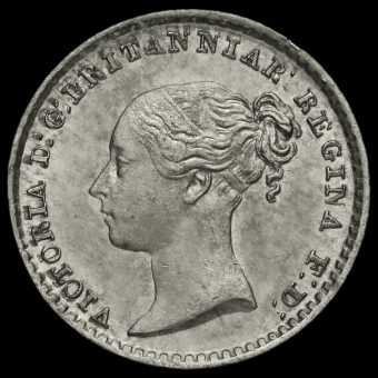 1840 Queen Victoria Young Head Silver Maundy Penny Obverse