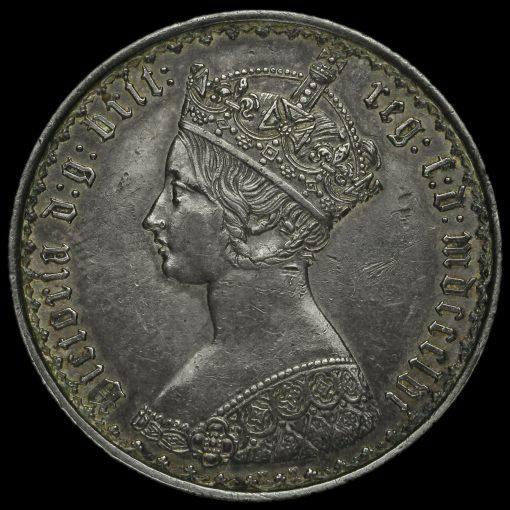 1856 Queen Victoria Gothic Florin Obverse