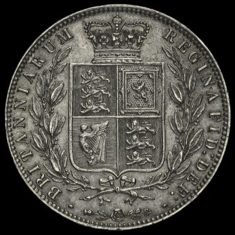 1874 Young Head Silver Half Crown Reverse