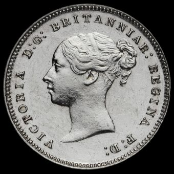 1885 Queen Victoria Silver Maundy Fourpence Obverse