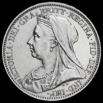 1893 Queen Victoria Veiled Head Silver Maundy Fourpence Obverse