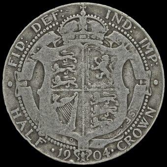 1904 Edward VII Silver Half Crown Reverse