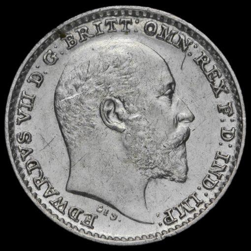 1905 Edward VII Silver Maundy Penny Obverse