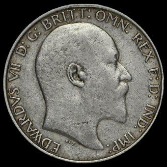 1907 Edward VII Silver Florin Obverse