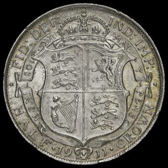 1911 George V Silver Half Crown Reverse