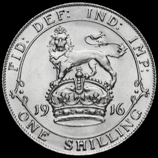 1916 George V Silver Shilling Reverse