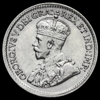 Canada 1917 George V Silver 5 Cents Obverse