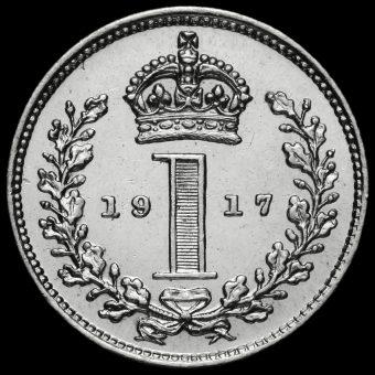 1917 George V Silver Maundy Penny Reverse