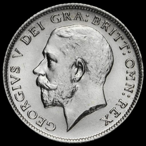 1921 George V Silver Sixpence Obverse