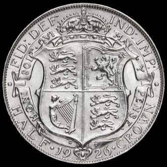 1926 George V Silver Half Crown Reverse