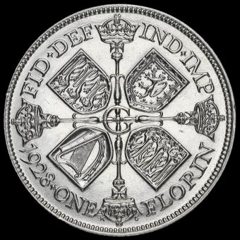 1928 George V Silver Florin Reverse