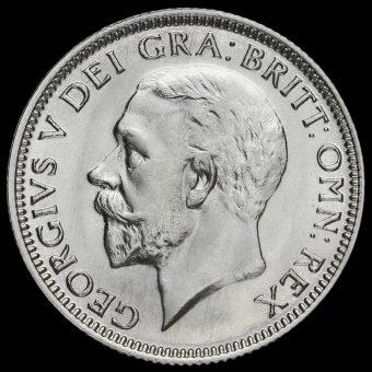 1930 George V Silver Shilling Obverse