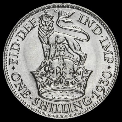 1930 George V Silver Shilling Reverse