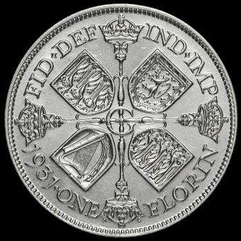 1931 George V Silver Florin Reverse