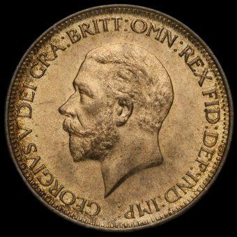 1931 George V Halfpenny Obverse