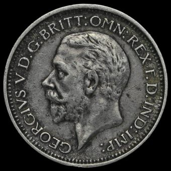 1931 George V Silver Maundy Fourpence Obverse