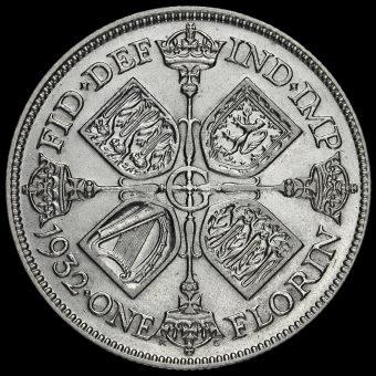 1932 George V Silver Florin Reverse