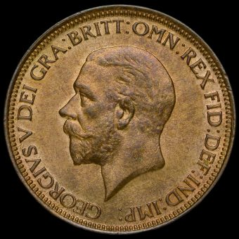 1932 George V Halfpenny Obverse