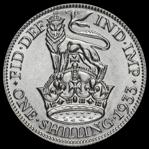 1933 George V Silver Shilling Reverse