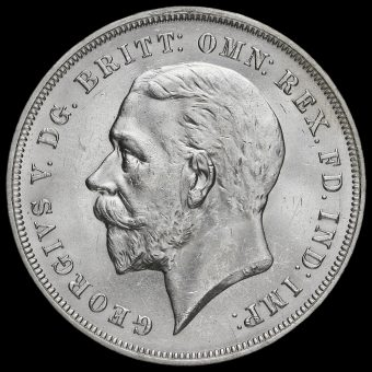 1935 King George V Rocking Horse Silver Jubilee Crown Obverse