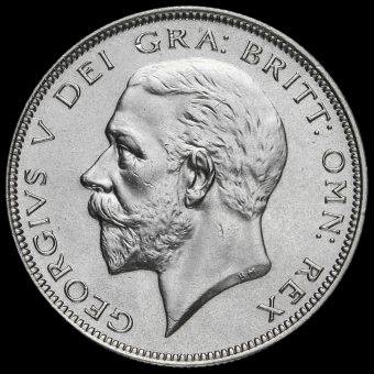 1935 George V Silver Half Crown Obverse