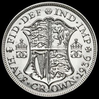 1936 George V Silver Half Crown Reverse