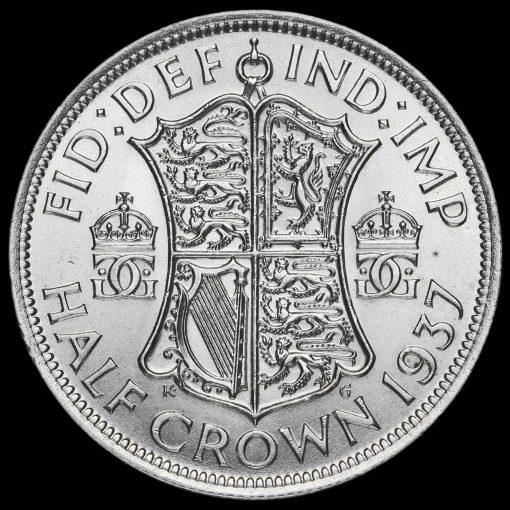 1937 George VI Silver Half Crown Reverse