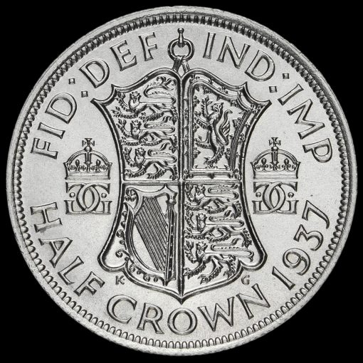 1937 George VI Silver Half Crown Reverse