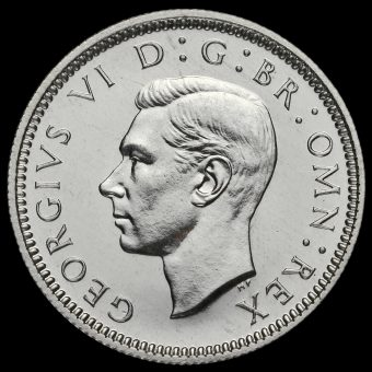 1937George VI Silver Proof Sixpence Obverse