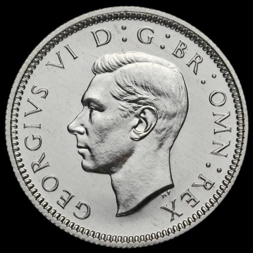 1937 George VI Silver Proof Sixpence Obverse