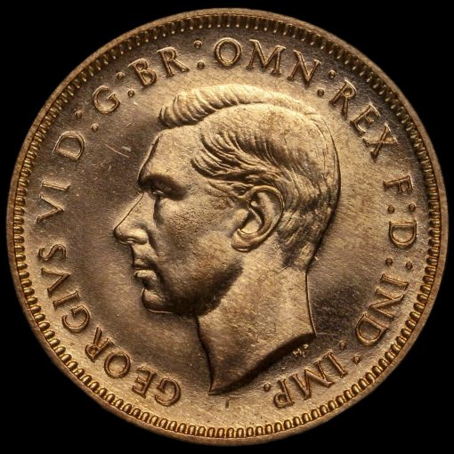 1937 George VI Proof Farthing Obverse