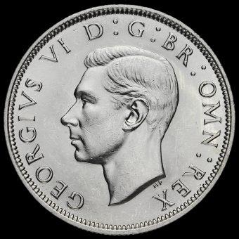 1939 George VI Silver Half Crown Obverse