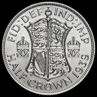 1939 George VI Silver Half Crown Reverse