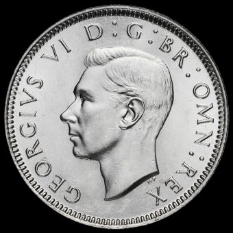 1945 George VI Silver English Shilling Obverse