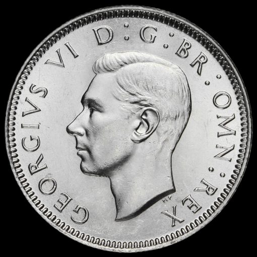 1945 George VI Silver English Shilling Obverse