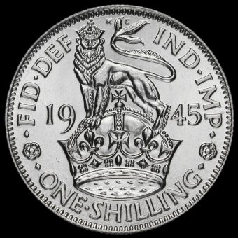 1945 George VI Silver English Shilling Reverse