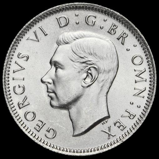 1945 George VI Silver Scottish Shilling Obverse