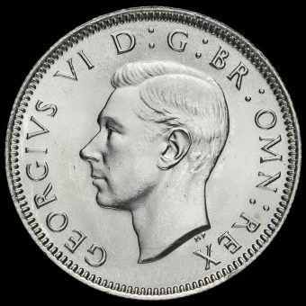 1945 George VI Silver Scottish Shilling Obverse
