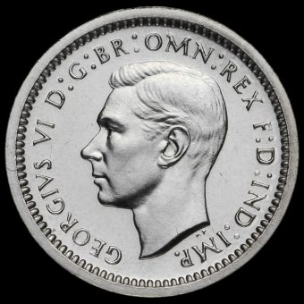 1946 George VI Silver Maundy Twopence Obverse