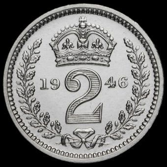 1946 George VI Silver Maundy Twopence Reverse